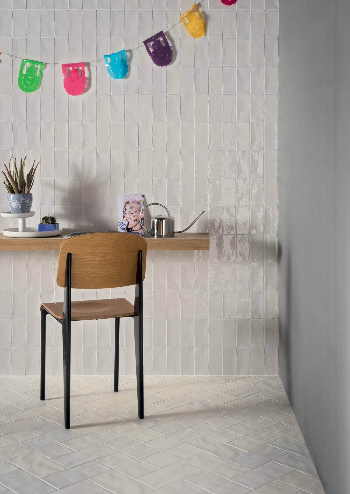 "Wall Hops Lux Bianco 7,5x15 3""x6"" - Floor Gap Bianco 11,5x23 5""x9"""