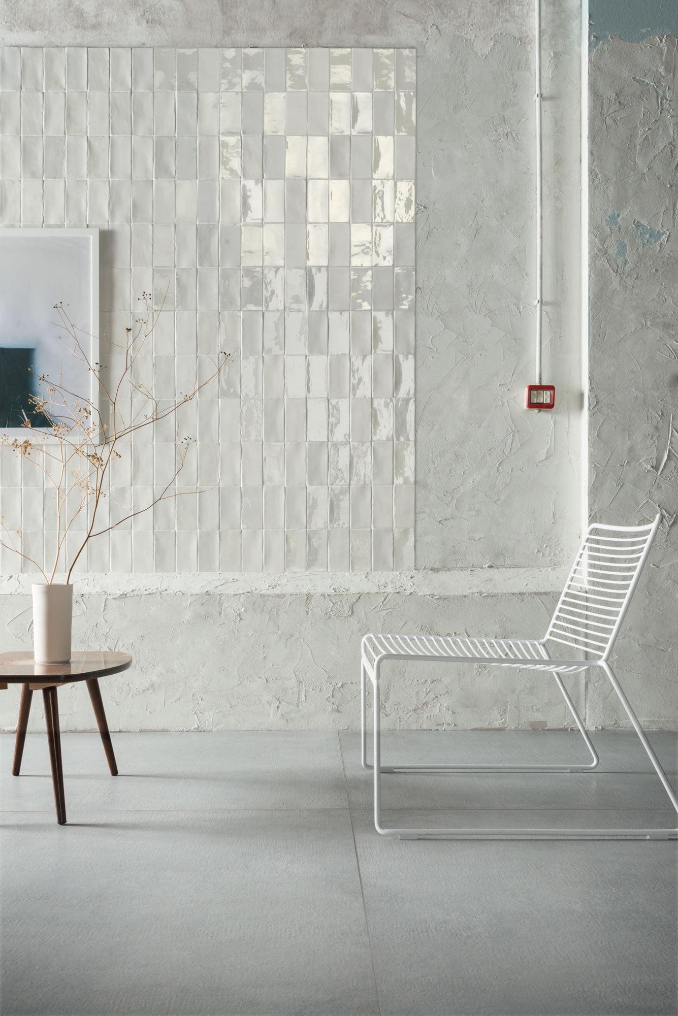 "Wall Matte Bianco + Hops Lux Bianco 7,5x15 3""x6"""
