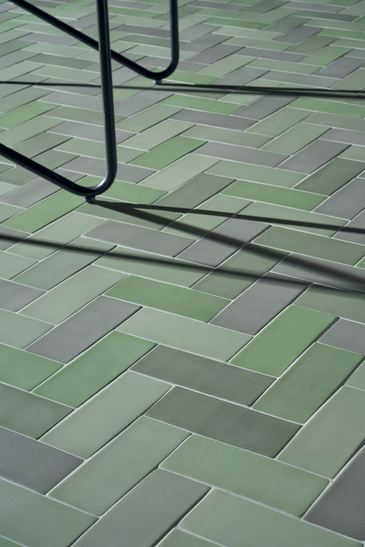 "Brick Matte Verde 6,5x15,5 3""x6"""
