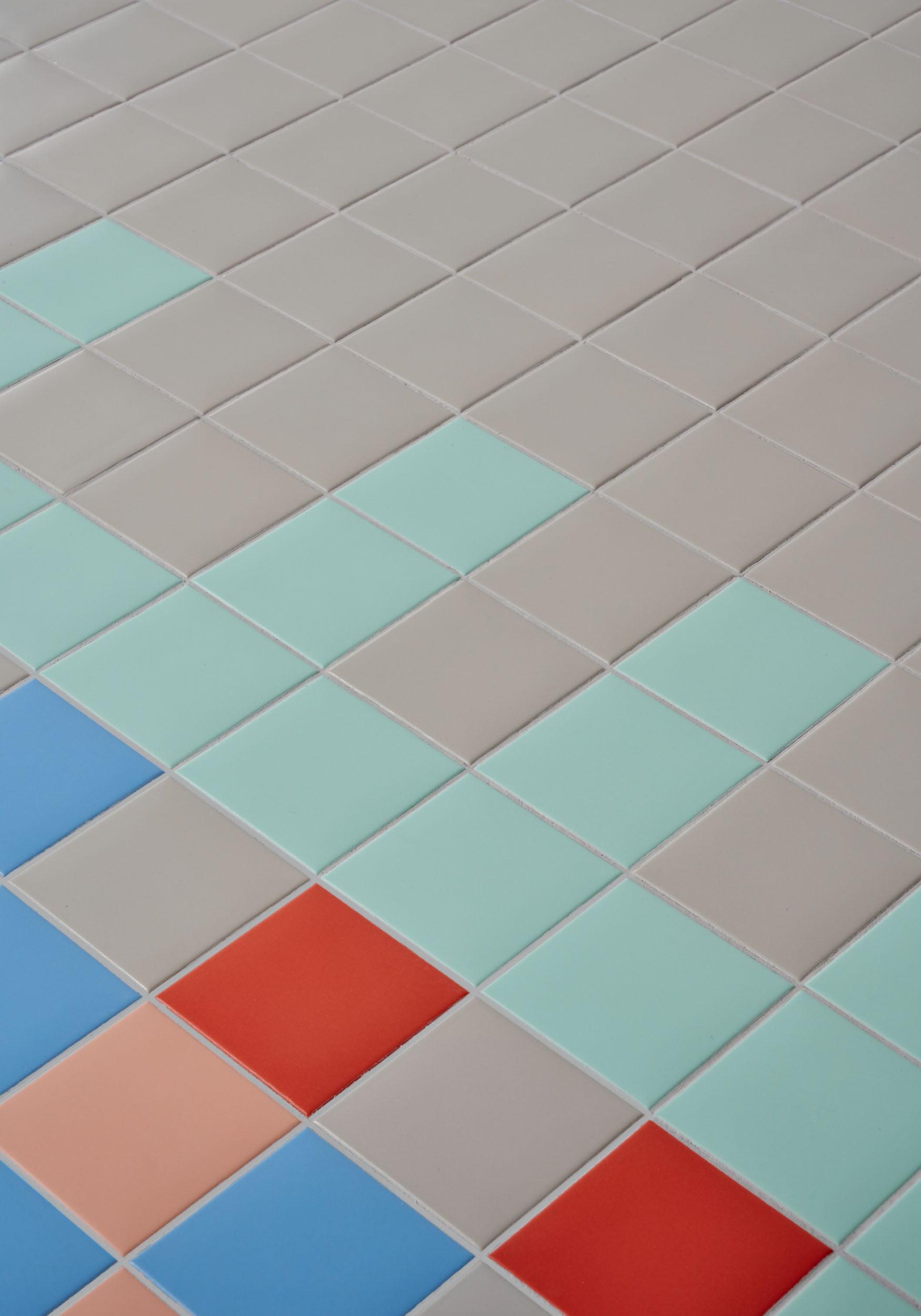 """Pixel41 11,55x11,55 5""""x5"""", 02 Lobster - 10 Nude - 23 Grey - 30 Pool - 41 Mint"""