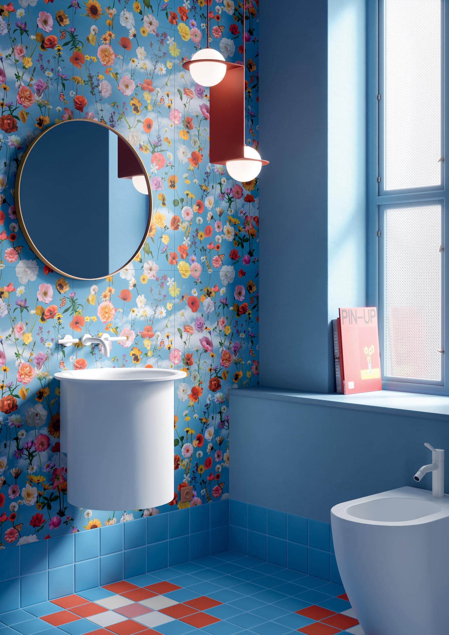 """Wall Paper41 Pro Mia 50x100 20""""x40"""" - Floor Pixel41 02/08/21/29 11,55x11,55 5""""x5"""""""